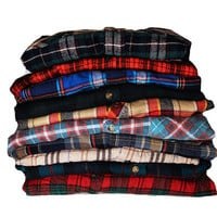 5 PACK Vintage Oversize Flannel Shirts