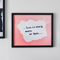 Isabella Rose Taylor Less Is More Framed Art
