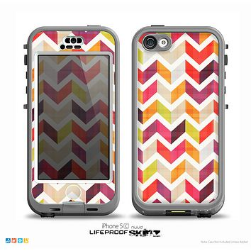 The Colorful Segmented Scratched ZigZag Skin for the iPhone 5c nüüd LifeProof Case