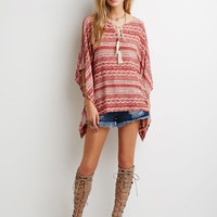 Tribal Print Peasant Blouse