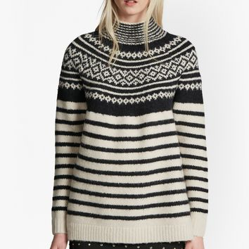 NORWAY KNIT HIGH NECK JUMPER