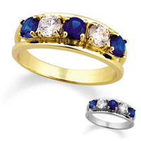 Ladies' 10K Gold Simulated Birthstone Glory Ring by ArtCarved® (4-6 Stones)