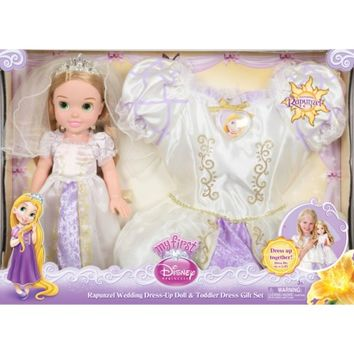 Disney Princess Rapunzel Wedding Dress-up Doll & Toddler Dress Gift Set