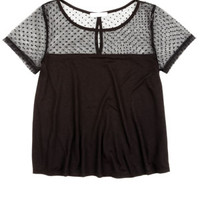 Swiss Dot Illusion Top