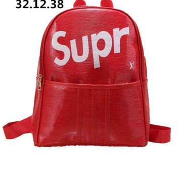 Lv Supreme Fashion Print Backpack[381546266660]