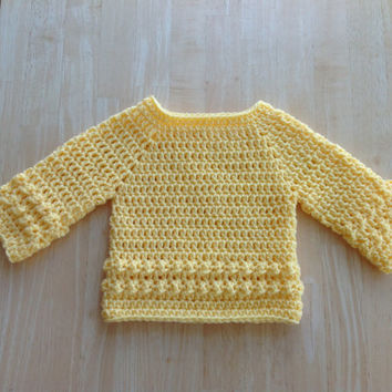 Baby Clothes - Baby Sweater - Crochet Baby Sweater - Infant Sweater - Newborn Clothing