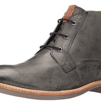 BEN SHERMAN MENS LUKE DISTRESSED CHUKKA BOOT, BLACK, 7 M US
