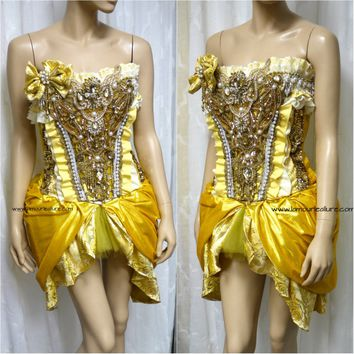 Disney Beauty and the Beast Princess Belle Corset and Skirt Costume