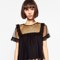 FRILLED TULLE TOP DETAILS