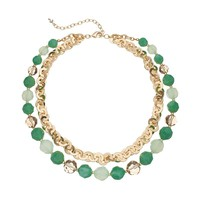 Napier Bead Multistrand Necklace (Green)