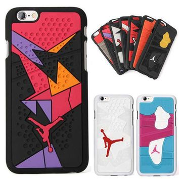 DCKL9 For Iphone 6 6s Phone Case 4.7 Inches 3D Jordan Capa Sport Basketball Plastic+Silicone