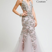 KC14501 Prom Dress Sequin Floral by Kari Chang Couture