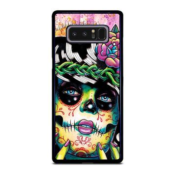 DAY OF THE DEAD SKULL GIRL Samsung Galaxy Note 8 Case Cover