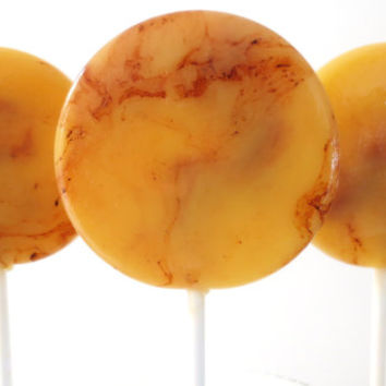 Pineapple Upside Down Cake Gourmet Lollipops - Pick Your Size - Southern Theme - Rustic Theme - Wedding Favors - Party Favors