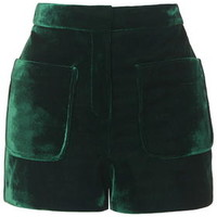 Velvet Patch Pocket Shorts - Forest