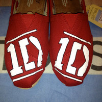 One Direction Logo Custom TOMS Shoes