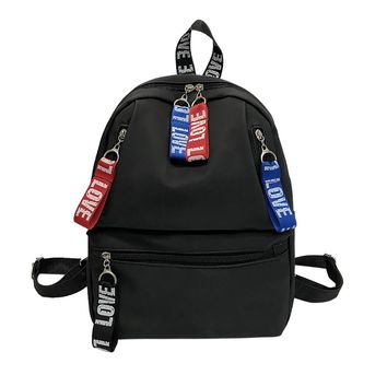 New Fashion Ribbon Decoration Zipper Shoulder Backpack