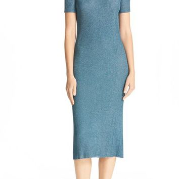 Tibi Marcel Metallic Knit Midi Dress | Nordstrom