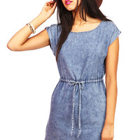 Mod Denim Dress | Dress at Pink Ice