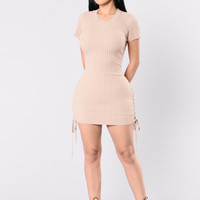Kelis Dress - Taupe