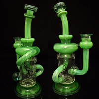 Phatass Glass Green Inner Klein Recyclerz Water Pipe