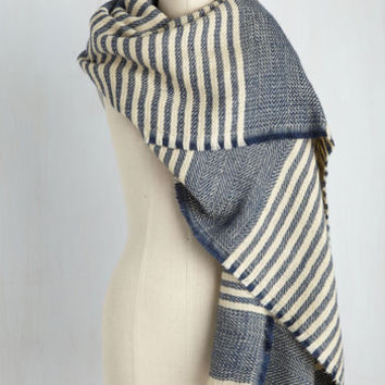 Central Park Cinema Scarf in Blueberry