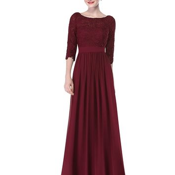 Long Formal Dress Mother of the Bride with Sleeves