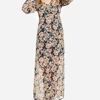 DailyLook: Sheer Floral Button Up Maxi Dress