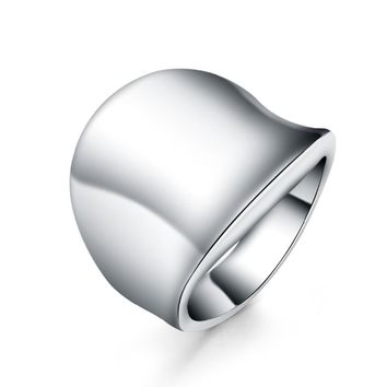 Beautiful Smooth SILVER ring MEN retro cute noble pretty fashion Wedding silver Plated women Lady Ring jewelry R052