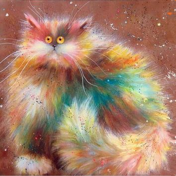 5D Diamond Painting Cream Puff Cat Collection Kit