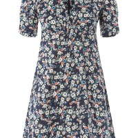 Ditsy Print Poplin Tea Dress - New In Fashion - New In