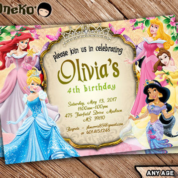 Shop Disney Princess Invitations on Wanelo