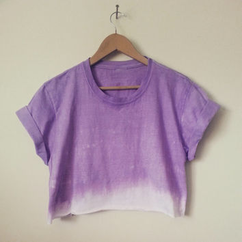 Dip Dyed Cropped T-shirts/Crop Top