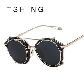 Steampunk Round Sunglasses Men or Women UV400 Alloy Frame