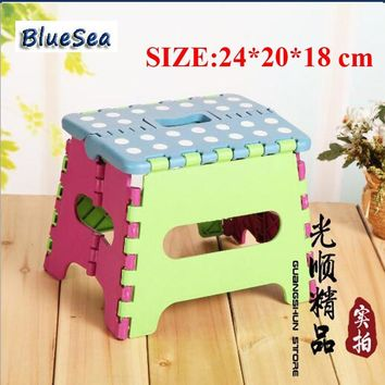 BlueSea Plastic Folding Chair Folding Seat Portable Multi Purpose Folding Step Stool Home Train Outdoor Storage Foldable Chair
