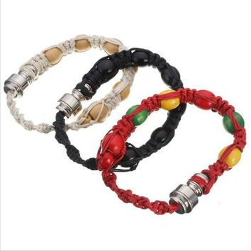 Portable Metal Bracelet smoke Smoking Pipe Jamaica Rasta Weed Pipe Mixed 3 Colors Retail Men/Women Gift Promotion
