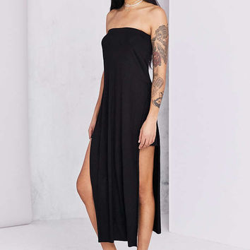 BLQ BASIC Strapless Side-Slit Maxi Dress - Urban Outfitters