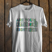 Are You Kitten Me Right Meow aztec T Shirt  Mens T shirt and Womens T shirt *