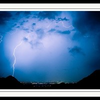 Lightning Rainbow Blues Framed Print by James BO Insogna