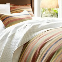 LOGAN STRIPE DUVET COVER & SHAM