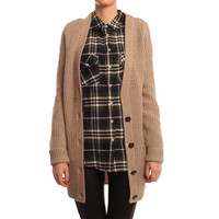 Hearts & Bows Taupe Oakley Knitted Cardigan