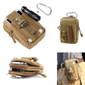 Tactical EDC Utility Gadget Waist Bag Military iPhone 7 Samsung Molle Pouch Belt Holster Outdoor Camping Climbing Bag