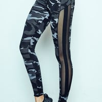 CAMO MESH STRIPED ENERGY LEGGING - PROMO 60% OFF