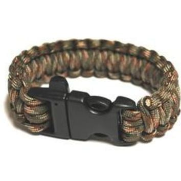 Survival Bracelet w/Whistle - OD Green C