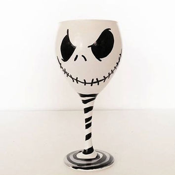 Jack Skellington wine glass - Nightmare before christmas - 20 oz