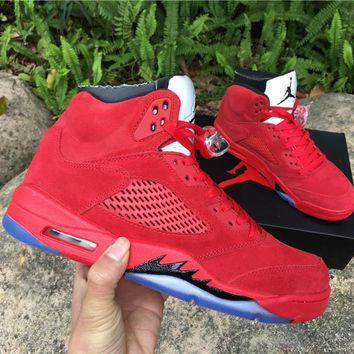 sports shoes 401b5 ccf16 closeout mens shoes red black air jordan 5 aaa a525c 17e3d  czech nike air  jordan 5 retro raging bull red suede basketball shoes w 7aa27 7da02