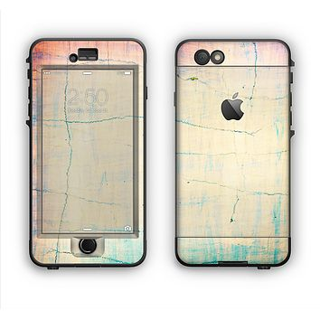 The Vintage Faded Colors with Cracks Apple iPhone 6 LifeProof Nuud Case Skin Set
