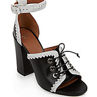 Givenchy - Lace-Up Leather Sandals - Saks Fifth Avenue Mobile