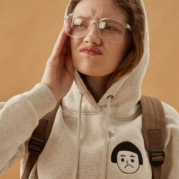Sad Girl Face Icon Hoodie