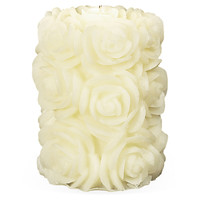 Flora Small Pillar Candle, Unscented